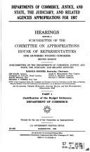 Departments of Commerce, Justice, and State, the Judiciary, and Related Agencies appropriations for 1997