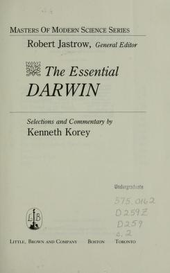Cover of: The essential Darwin | Charles Darwin