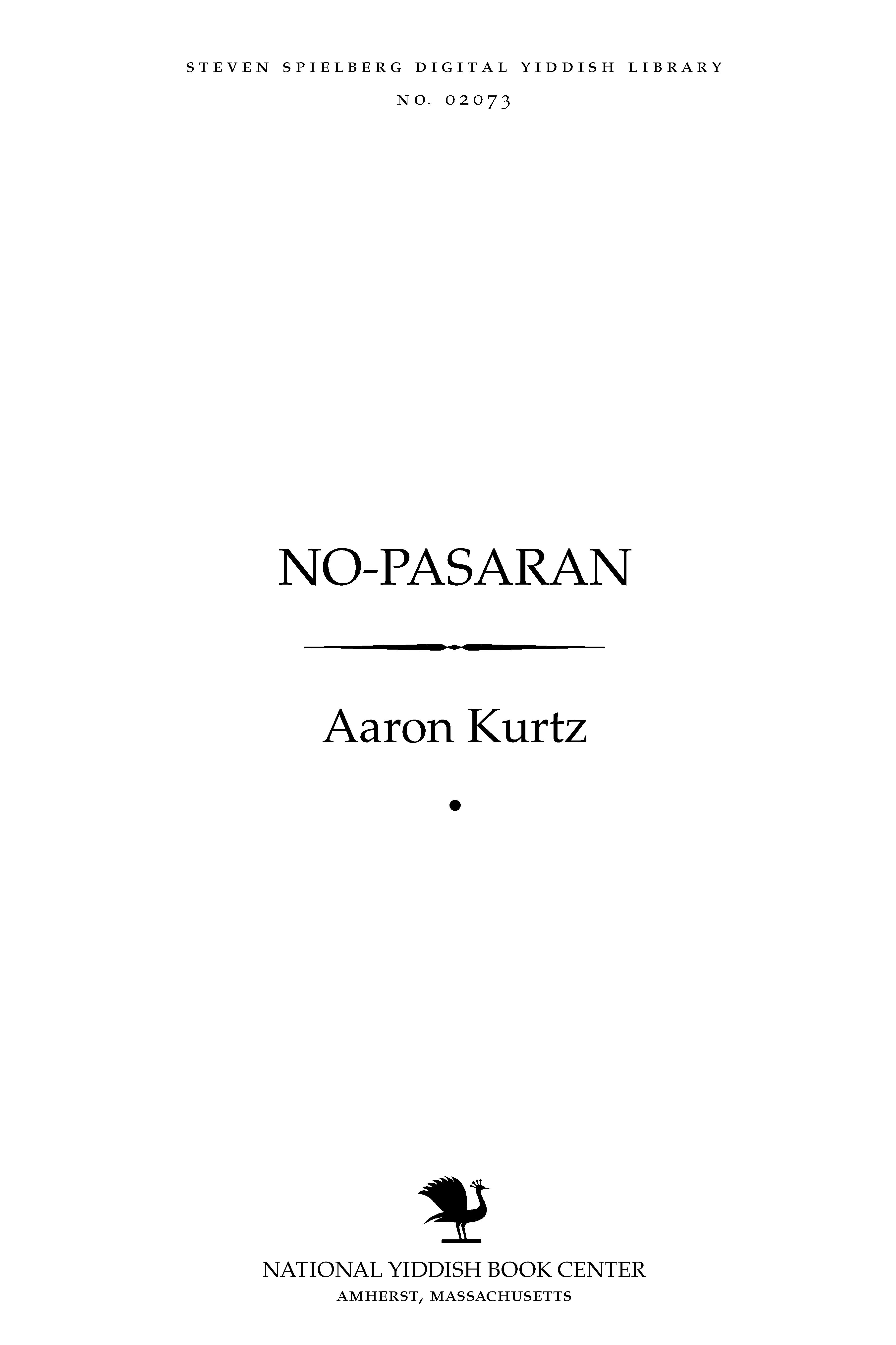 Cover of: No-pasaran